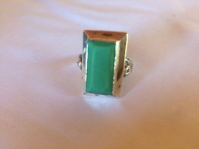 Chinese Export Silver Ring Jade Antique