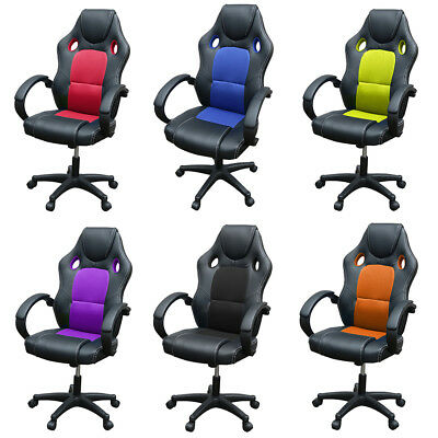 Office Computer Armchair Gaming Chair Racing Sport Bucket Seat Executive Chairs