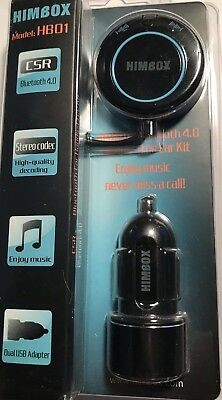 iClever Himbox HB01 Bluetooth 4.0 Hands-Free Car Kit ... BRAND NEW!
