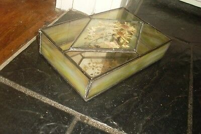 Large Vintage Retro Deco Style/design Mirror Lined Trinket/jewellery Box