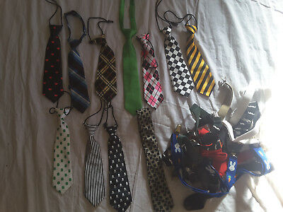 Toddler and boys huge lot of ties and suspenders up to age 7