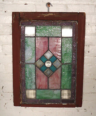 Vintage Antique Stained Glass Door (00430)NS