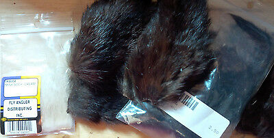 Mink Fur, Tails and Skin pieces, assorted types and sizes, dyed and natural