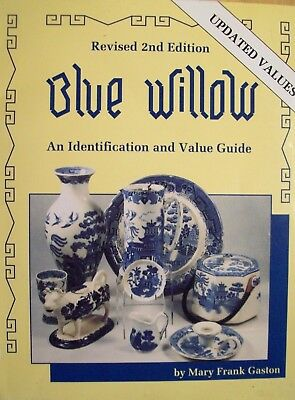 VINTAGE BLUE WILLOW POTTERY PRICE GUIDE BOOK Include Plates Pitcher's Cups Bowls