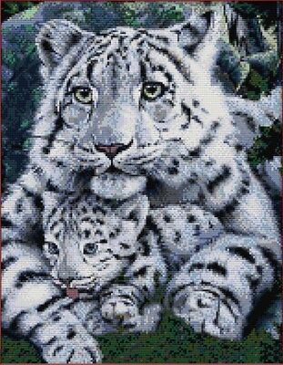 Tiger mother family. 14CT counted cross stitch kit. Craft brand new.