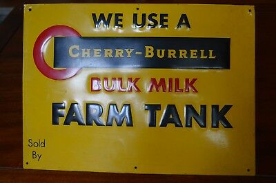 Vintage embossed milk farm tin dairy sign