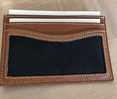CHRISTIAN DIOR Men's Wallet double-sided 4 slots authentic great gift reg 250.
