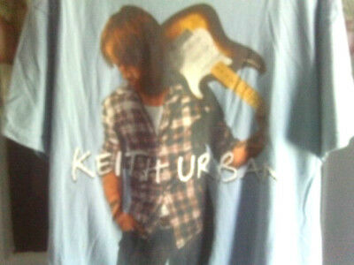 "Keith Urban ""Escape Together"" World Tour (2009) Blue Concert T-Shirt SZ-XXL"