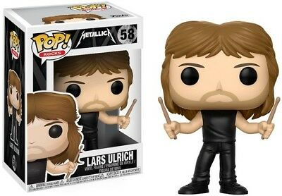 Metallica - Lars Ulrich - Funko Pop! Rocks (2017, Toy NUEVO)