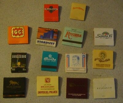 Vintage Las Vegas NV Lot of 14 Casino  Hotel  from the past MATCHBOOKS