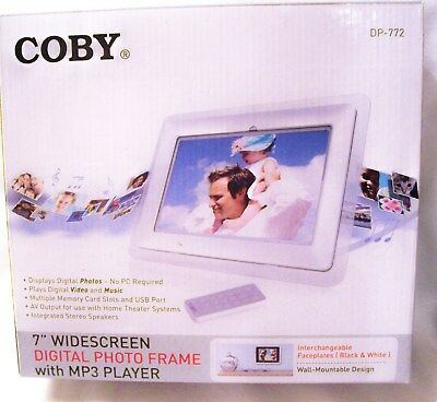 "Coby DP-772 7"" Digital Picture Frame and MP3 player-New Never Opened!!"