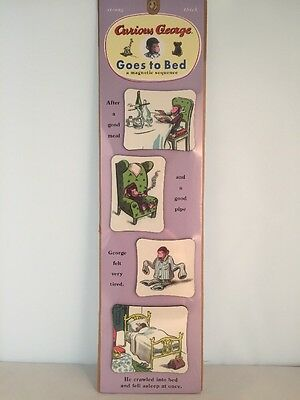 Rare Vintage 1997 Curious George Goes To Bed Magnets Made In USA