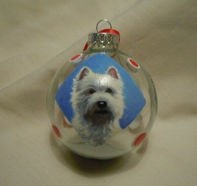 Original West Highland White Terrier Glass Christmas Ornament New LL Lawton