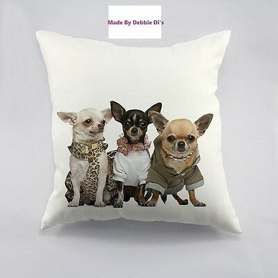 chihuahua pillow  white 18 X 18 new from USA