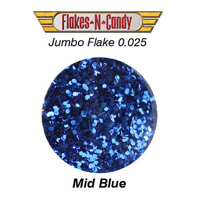 METAL FLAKES GLITTER JUMBO MONSTER (0.025) METAL FLAKE 30g MID BLUE