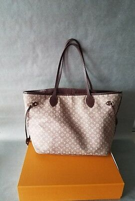 Authentic  Louis Vuitton Idylle Neverfull MM Tote Bag Sepia  Rare Purse Discont