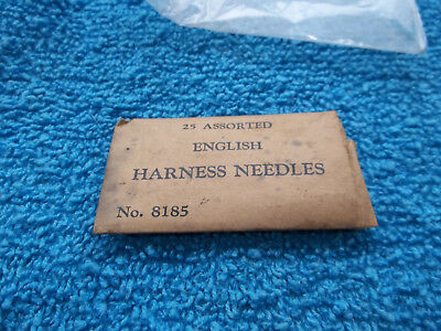 English Harness Needles In Package Vintage