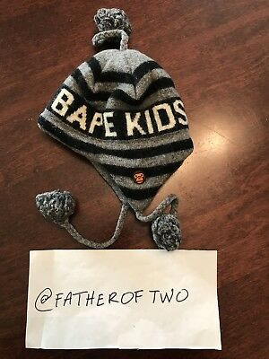 Authentic Used Kids A Bathing Ape bape winter  hat for newborn to 1.5 year old