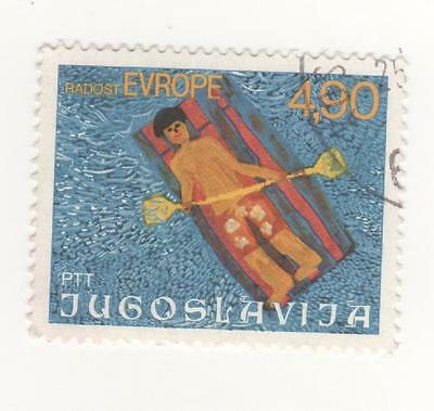 F.P.R. YUGOSLAVIA 1977 4.90 Children's Week and painting stamp SG#1782 USED