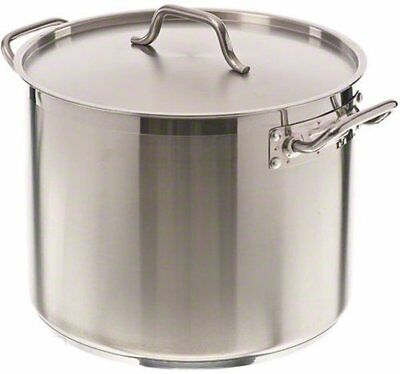 Update International SPS-24 24 Qt Induction Ready Stainless Steel Stock Pot w...