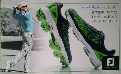 Man cave sign; FJ shoe; Pro golfer Hunter Mayan pictured; used.