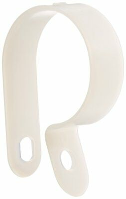 """Heavy Duty Nylon Cable Clamp, 1"""" Diameter, 0.472"""" Width, Natural"""