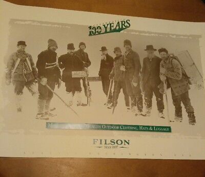 CC Filson Company 100 Year Anniversary Poster Vintage 1997 Outdoors Collectible