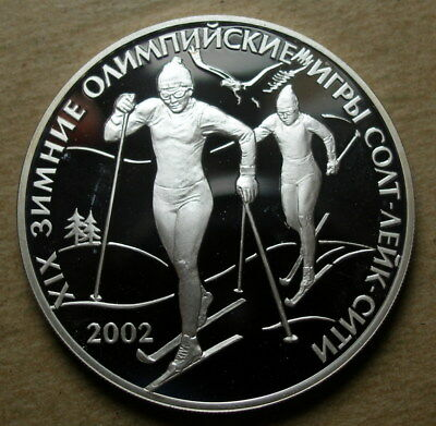 Russia 2002 Silver Proof 3 Roubles