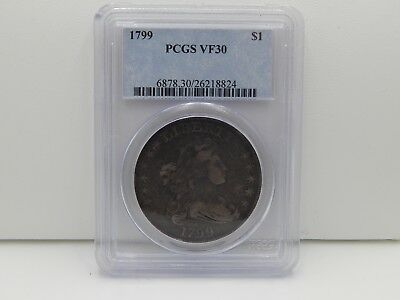1799 $1 Draped Bust Silver Dollar PCGS VF 30 Key Date RARE NR Choice Undergraded