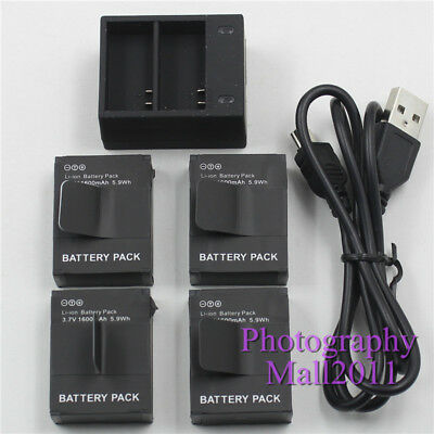 Replacement For GoPro AHDBT-301 201 Battery + Dual Charger For GoPro Hero 3 3+