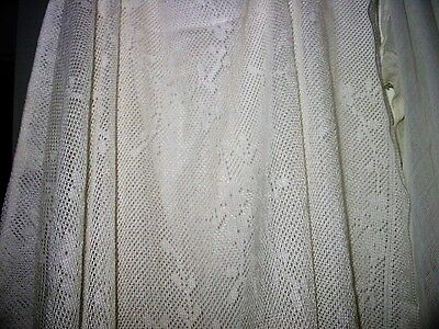 antique lace curtains and cheese cloth like panels or craft fabric vtg ivory