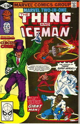 Marvel Two-In-One Comic Book #76 The Thing and Iceman, Marvel 1981 VERY FINE-