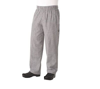 Chef Works Men's Essential Baggy Chef Pant Small Checker NBCP000 Size 5XL NEW