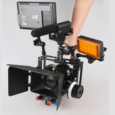"""Film Making Camera Video Cage Kit with Top Handle Grip 1/4"""" Holes MagiDeal"""
