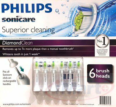 12x Genuine Philips Sonicare DiamondClean Electric Toothbrush Replacement Heads