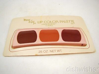 Mary Kay 0471 GREAT FASHION CORALS Lip Color Palette I/II/III NEW NWOB VTG