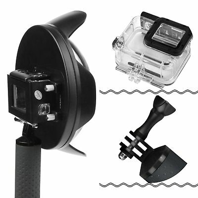 """SHOOT 6"""" Underwater Diving Camera Lens Dome Port Cover + Grip for GoPro Hero 5 6"""