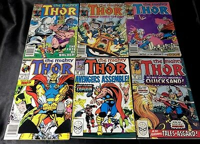 Lot Of 6 The Mighty Thor Comic Books (Marvel, 1986-89) #368,371,372,382,390..✰