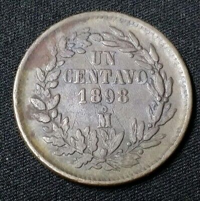 1898 Mo Mexico One Centavo World Coin Free Shipping!
