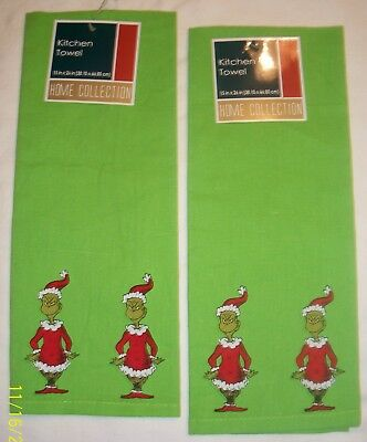 The Grinch Kitchen Towel Set Dr Seuss How The Grinch Stole Christmas