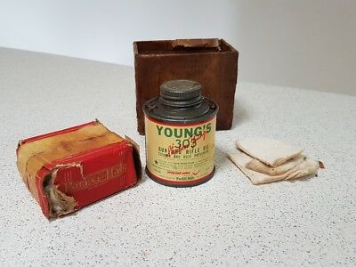 Early Vintage Young's .303 Gun & Rifle Oil Cleaner & Rust Preventer 2fl oz Tin