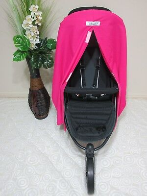 Pram/stroller privacy curtain,universal fitting-Hot pink-100% cotton option.