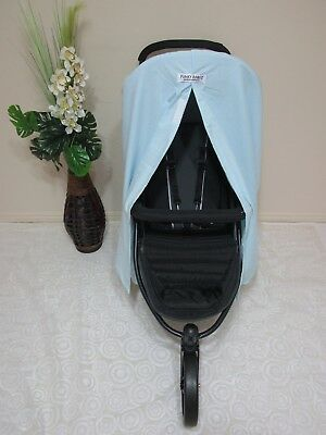 Pram/stroller privacy curtain,universal fitting-Boy blue-100% cotton option.