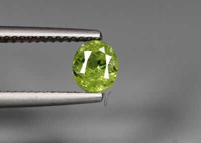 0.80 Cts_Electric Fire Rare Gemstone_100 % Natural Demantoid Garnet_Namibia