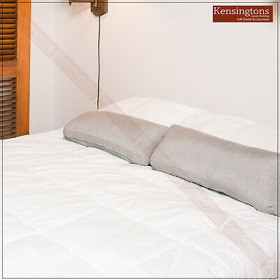 NEW Luxury Supersoft Heavy Fill Mattress Topper Canadian Goose Down Bed Enhancer