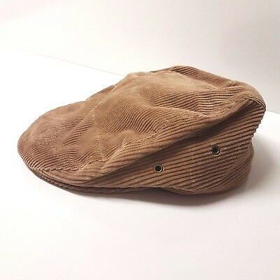 STETSON USA size M 7-7 1/8 Extreme Vintage Brown Ribbed Wool Flatcap Cabbie Cap