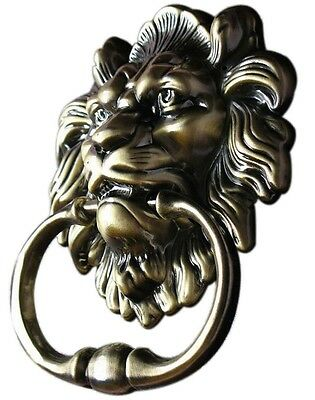 Lion Head Front Door Knocker Vintage Antique Bronze 18th Century Italian Style