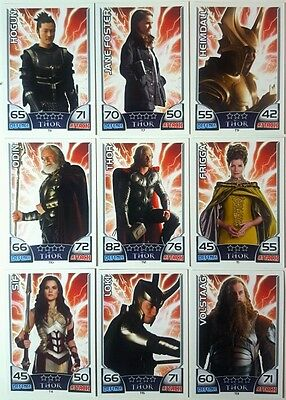 MARVEL HERO ATTAX Series 1  2011  THOR MOVIE CARD SET of 15 Topps  UK T1 - 15
