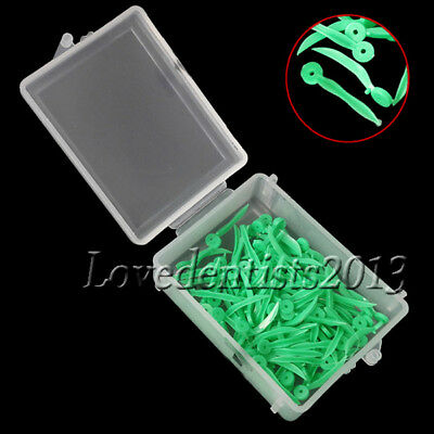 100pcs Dental disposable Plastic Poly-Wedges with Holes Round Stern Small Size