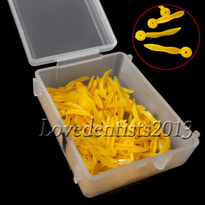 100pcs Dental disposable Plastic Poly-Wedges with Holes Round Stern Medium size